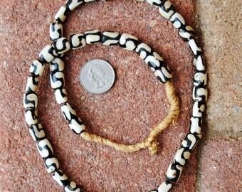 Ghana Bone Beads: Batik 10x10mm