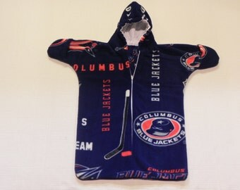 NHL Columbus BLUE JACKETS Printed  fleece  Baby Bunting Coat Newborn  0 to 6 months