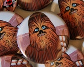 Chewbacca Star Wars wookie Chewy badge pinback button badge