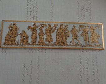 German numbered Gold Design Vintage Rectangular Plaque