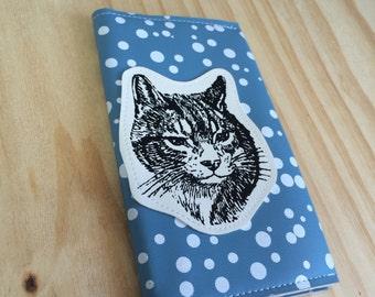 Cat Travel Wallet fits your Passport, Checkbook, iphone case, changepurse, card wallet