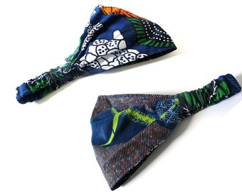 Boho Headband - Wide REVERSIBLE Head Band - Yoga Hairband - Women's Headband - Ethnic Print
