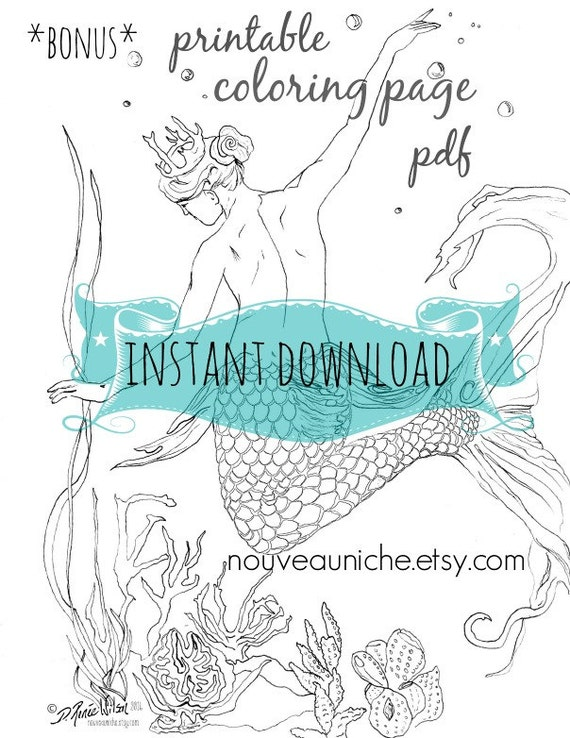 DIGITAL DOWNLOAD Adult Coloring Book Printable Women Gift