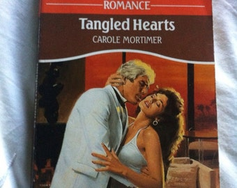 Vintage 80s mills & boon book Tangled Hearts by Carole Mortimer