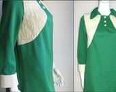 60s vtg green kelly dress