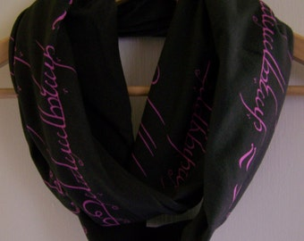 Lord of the Rings Words on the Ring Infinity Scarf