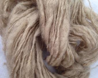Handspun natural colored art yarn from Shetland sheep 29 yards