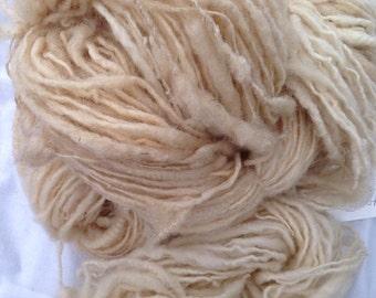 Handspun natural colored art yarn from BFL cross sheep 119 yards 4.8 ounces