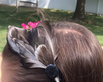 feather headband with beautiful embellishment