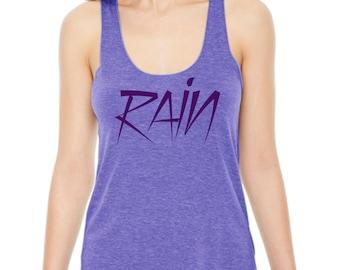 Women's PURPLE RAIN racerback tank, Prince