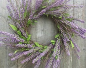 Heather wreath,  Spring wreath,  twig wreath