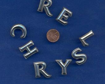 Original Vintage Chrysler Name Letters