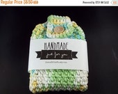 ON SALE Hanging Towel - 100% Cotton - Blue/Yellow/Green/White