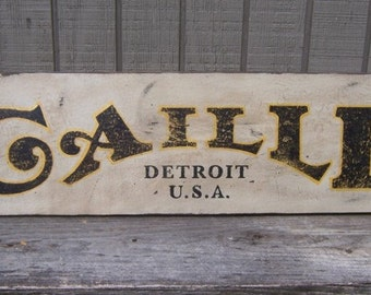 Vintage Replica Caille Outboard Motors Trade Sign