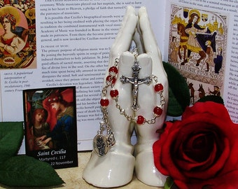 Unbreakable Catholic Chaplet of St. Cecilia - Patron Saint of Musicians, Singers, Composers and Poets
