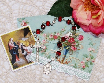 Unbreakable Chaplet of St. Valentine - Patron Saint of Lovers, Happy Marriages, Travellers, Bee Keepers and People with Epilepsy