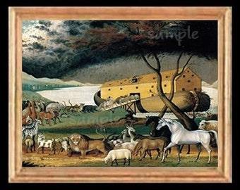 Noahs Ark Miniature Dollhouse Art Picture 6889