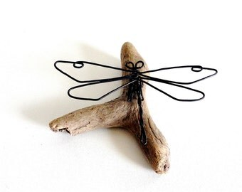 Dragonfly Wire Sculpture, Dragonfly Wire Art, Minimal Wire Sculpture, 480241511