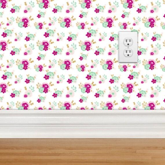 removable wallpaper vintage floral repositionable
