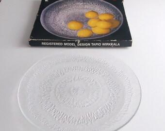 Vintage iittala Finland Solaris Large Sandwich Platter by Tapio Wirkkala