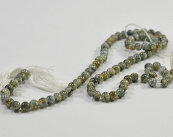 Gray marble beads, 4mm - #1592
