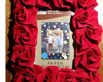 Picture frame with roses (Pearl or special paper)