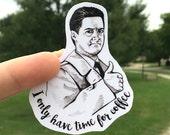 Agent Cooper Twin Peaks Vinyl Laptop Sticker | Car Decal | Phone Sticker