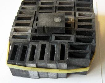 Vintage Metal Letterpress Spacers Type B B & S Stamp 42