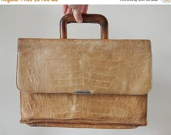 SALE 20% vintage leather portfolio briefcase