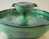 "Cat Water Fountain - Cat Drinking Fountain - Pet Drinking Fountain  - 10.75 Inch Diameter - ""Piazza Mentha"""