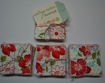 MODA Bonnie and Camille VINTAGE MODERN 2 1/2 x 2 1/2 inch squares Mini Charm