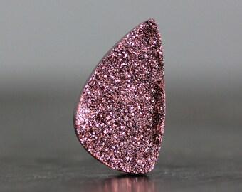 SALE - High Grade Glistening Semiprecious Titanium Druzy Free Form Geode Crystal Slice Natural Stone How to Make Pendant Jewelry (10474)