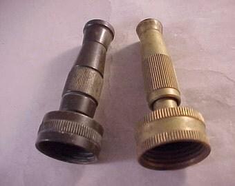 2 Brass Garden Hose Nozzles