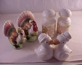 Salt and Pepper Sets Lot of 3 Pair
