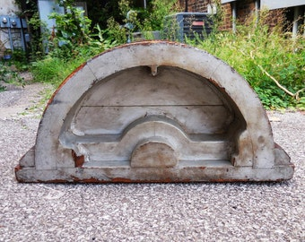 Antique wood Foundry Mold Arch  Architectural salvage large Industrial Rustic 30 inch Garden art Home decor supplies