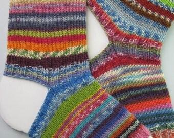 hand knitted womens wool yoga socks, crazy yoga socks, heel-less toe-less socks, flip flop socks, exercise socks, pilates socks, crazy socks