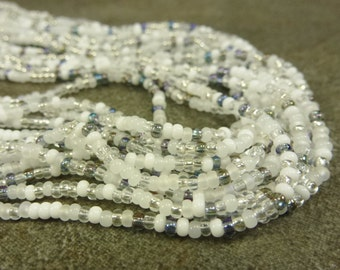 Apparition Mix Preciosa Czech Glass 11/0 Seed Beads 6 String Hank Opaque White Crystal Opalite Silver