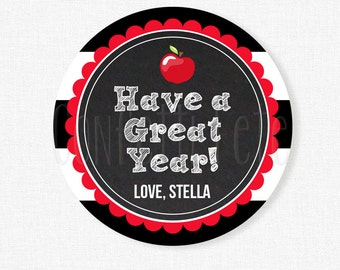 Have a Great Year Tag, Student Gift Tags, Back to School Tag, Teacher Gift Tag, Printable Gift Tag