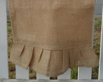 Burlap Table Runner, Pleated