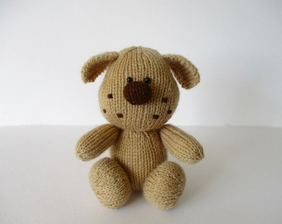 Knitting Patterns For Dogs Toys : Bernie the dog toy puppy knitting pattern