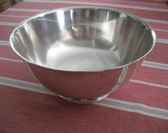 antique silverplate trophy bowl Montauk Yacht Club 1959