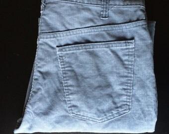 Vintage 519 Levis Corduroys 36x32 bluish Gray straight leg 36 inch waist Talon # 1545