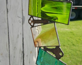 Vintage Key Stained Glass