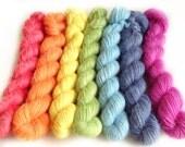 All you knit is love! - handdyed fingering alpaca yarn - 175gr 580m