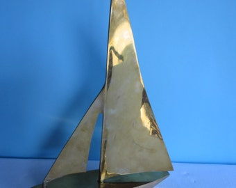 Vintage Brass Sailboat - Large 14 1/2 inches Tall - Made by Rosenthal