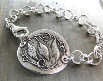 Everlasting, Personalized Fine and Sterling Silver Bracelet, Original Design by SilverWishes
