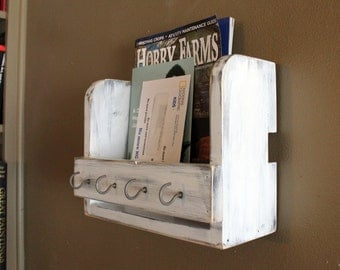 Rustic Mail Organizer and Key Hook