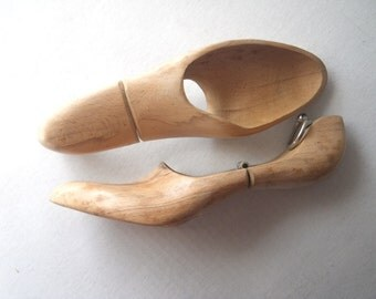 Pair Ladies Wooden Shoe Trees - early 1900s