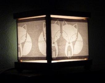 Fox Night Light Decor Gray Nursery Lighting