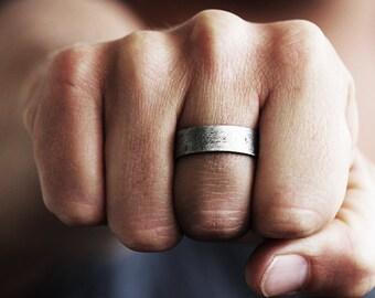 Mens bande de mariage pour homme bague de mariage Alliance anneau de mariage bague pour homme anneau de mariage Unique bande des hommes bague de mariage noces d'argent